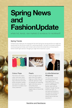 Spring News and FashionUpdate