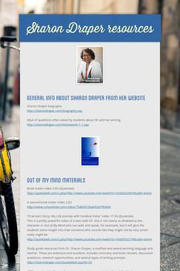 Sharon Draper resources