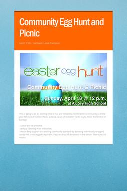 Community Egg Hunt and Picnic