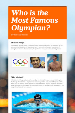 Who is the Most Famous Olympian?