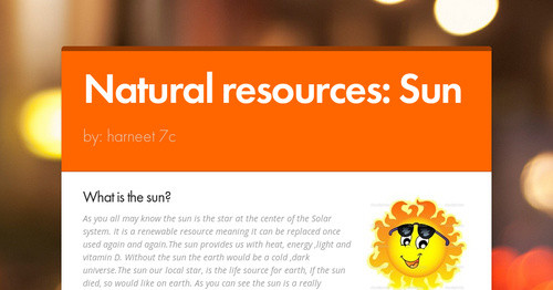 Natural Resources Sun Smore Newsletters