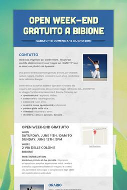 Open Week-end gratuito a Bibione
