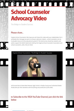 School Counselor Advocacy Video