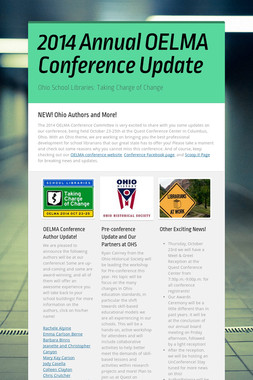 2014 Annual OELMA Conference Update