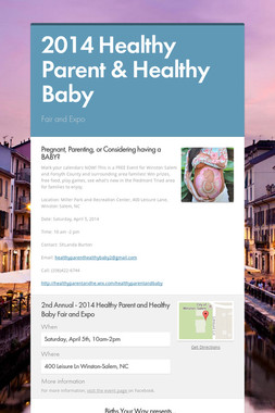 2014 Healthy Parent & Healthy Baby