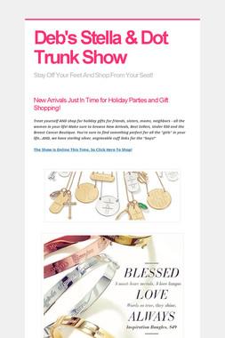Deb's Stella & Dot Trunk Show