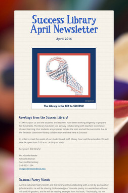 Success Library April Newsletter