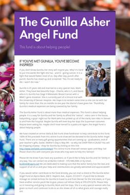 The Gunilla Asher Angel Fund