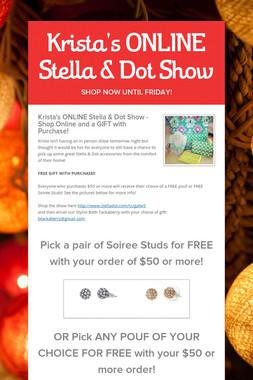 Krista's ONLINE Stella & Dot Show