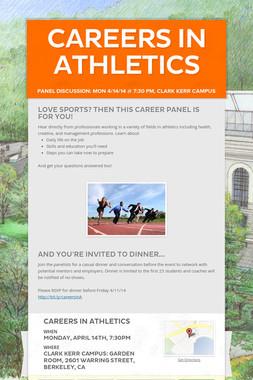 Careers in Athletics