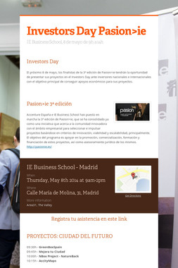 Investors Day Pasion>ie