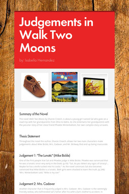 Judgements in Walk Two Moons