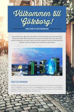 Välkommen till Göteborg!