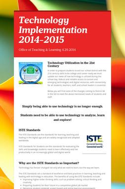 Technology Implementation 2014-2015