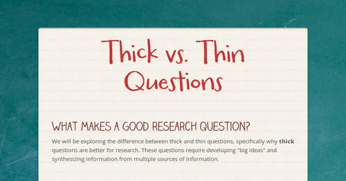 what is a good research question examples
