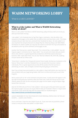 WAHM NETWORKING LOBBY