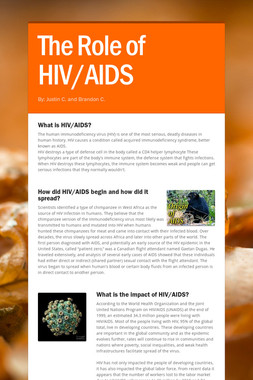 The Role of HIV/AIDS
