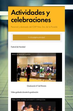 Actividades y celebraciones