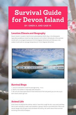 Survival Guide for Devon Island