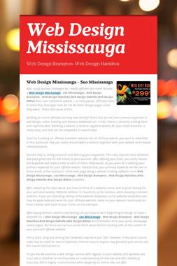Web Design Mississauga