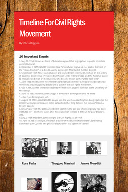 Timeline For Civil Rights Movement