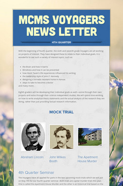 MCMS Voyagers News Letter