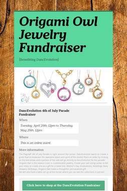 Origami Owl Jewelry Fundraiser