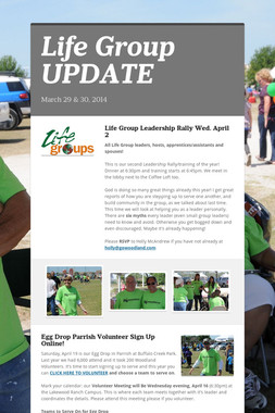 Life Group UPDATE