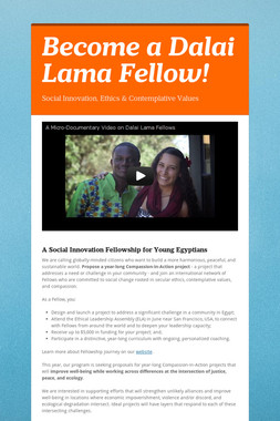 Become a Dalai Lama Fellow!