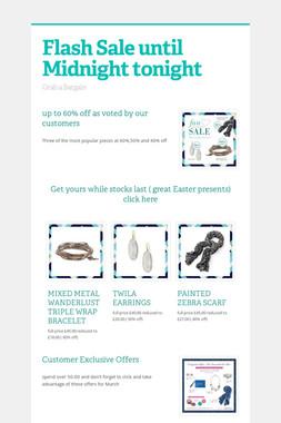Flash Sale until Midnight tonight