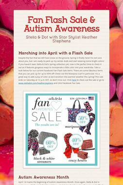 Fan Flash Sale & Autism Awareness