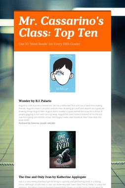 Mr. Cassarino's Class: Top Ten