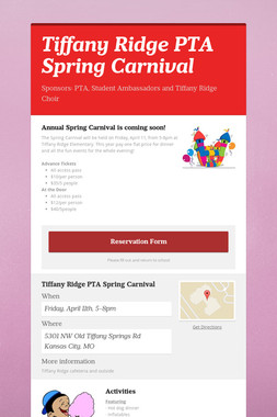 Tiffany Ridge PTA Spring Carnival