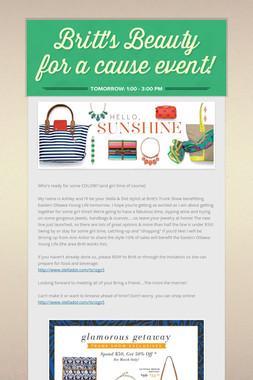 Britt's Beauty for a cause event!