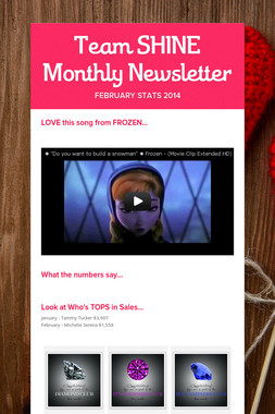 Team SHINE Monthly Newsletter