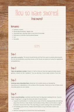 How to make smores!