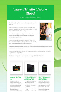 Lauren Scheffe  It Works Global