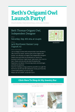 Beth's Origami Owl Launch Party!