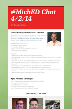 #MichED Chat 4/2/14