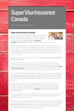 Super Visa Insurance Canada