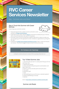 RVC Career Services Newsletter