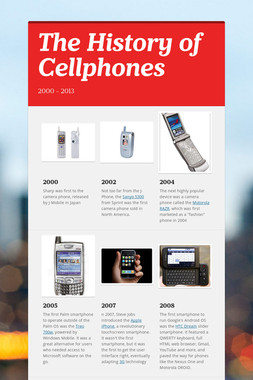 The History of Cellphones