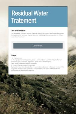 Residual Water Tratement