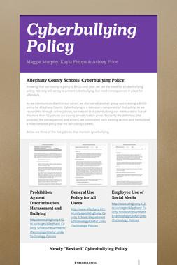 Cyberbullying Policy