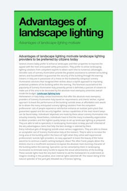 Advantages of landscape lighting
