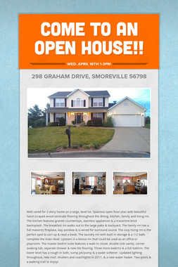 Come to an Open House!!