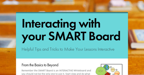 Interacting with your SMART Board