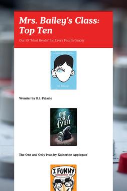 Mrs. Bailey's Class: Top Ten