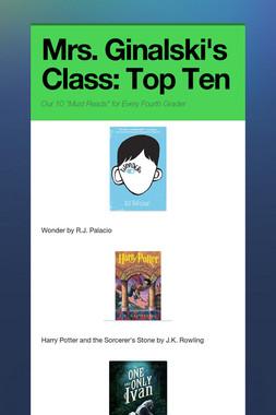 Mrs. Ginalski's Class: Top Ten
