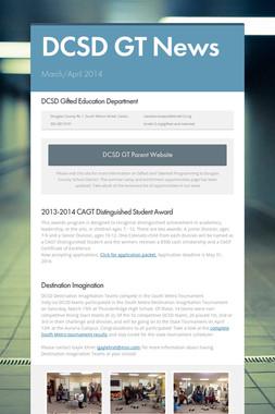 DCSD GT News